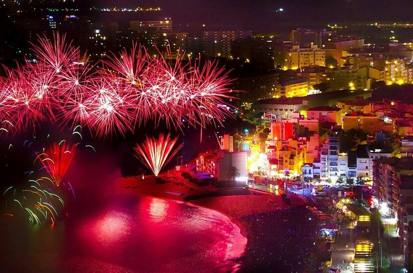 Los fuegos artificiales in Blanes!