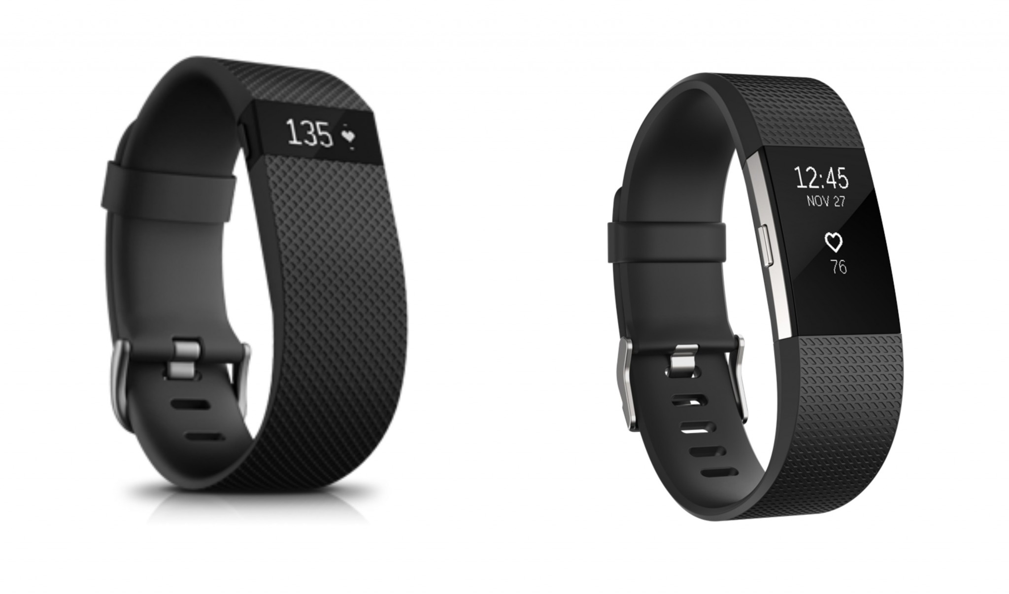 Fitbit HR vs. Fitbit Charge 2